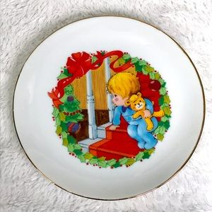 ❗️2/15$ - Vintage Chritmas Plate Made in Japan